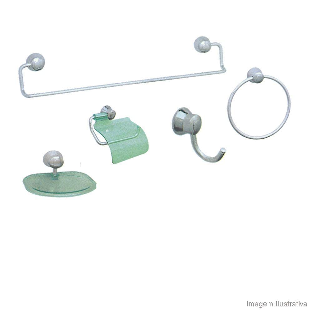 Kit Acessórios p/ Banheiro 6 Peças Linha Magnus Cromado Expambox