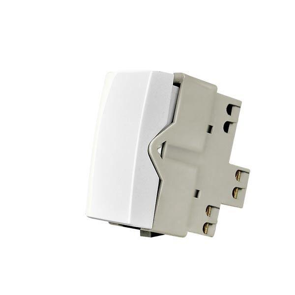 Kit c/ 25 Unidades de Interruptor de Tomada Simples Liga/Desliga Linha Sleek 10A Margirius Branco