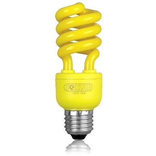 Lâmpada Compacta 15w x 127v Espiral amarela  Foxlux