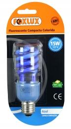Lâmpada Compacta 15w x 127v Espiral  azul Foxlux