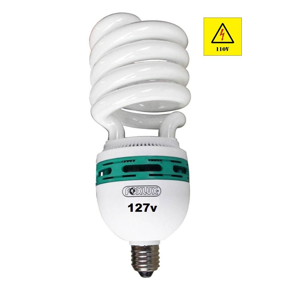 Lâmpada Compacta Fluorescente 65w x 127v Espiral Foxlux