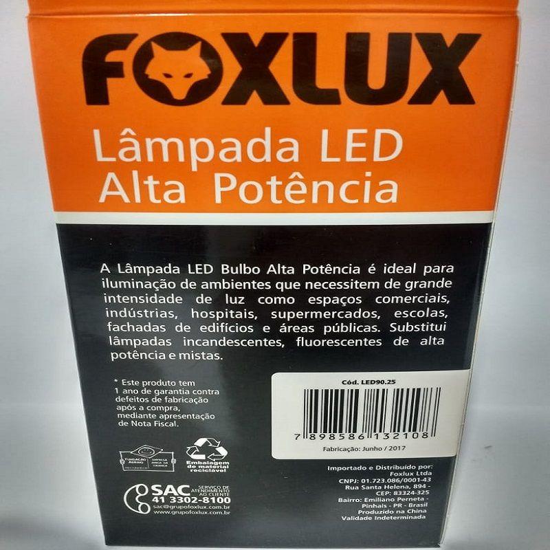Lâmpada De Led 20w E-27 6500k Foxlux Alta Potência Bivolt