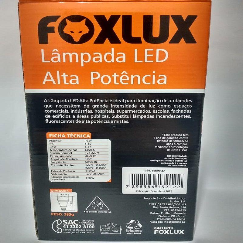 Lâmpada de Led 40w E-27 6500k FoxLux