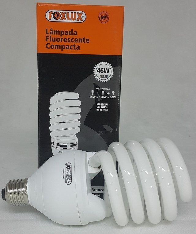 Lâmpada Fluorescente Compacta 46w x 127v E-27 Espiral Foxlux