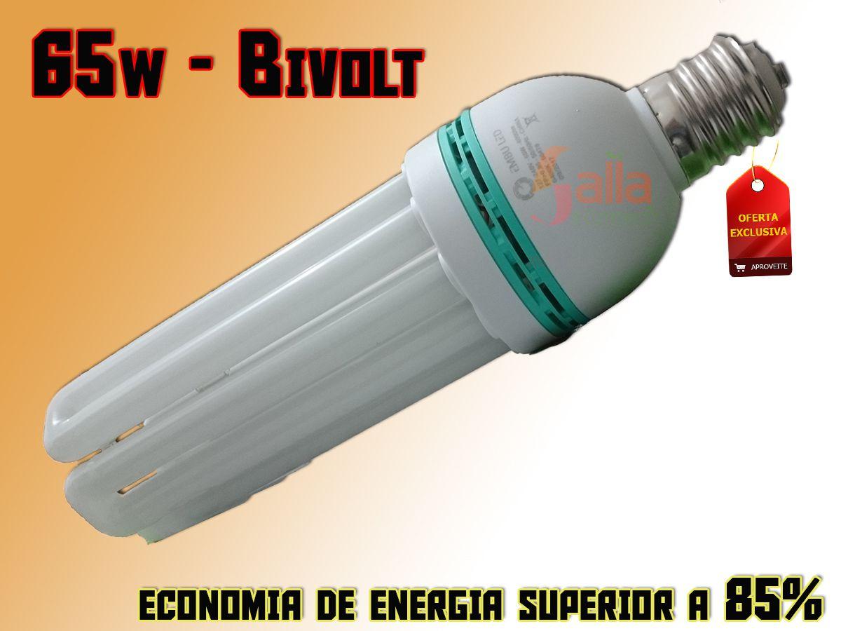 Lâmpada Super Led 65w E-40 6400k 5U Bivolt Alta Potência Embu Led
