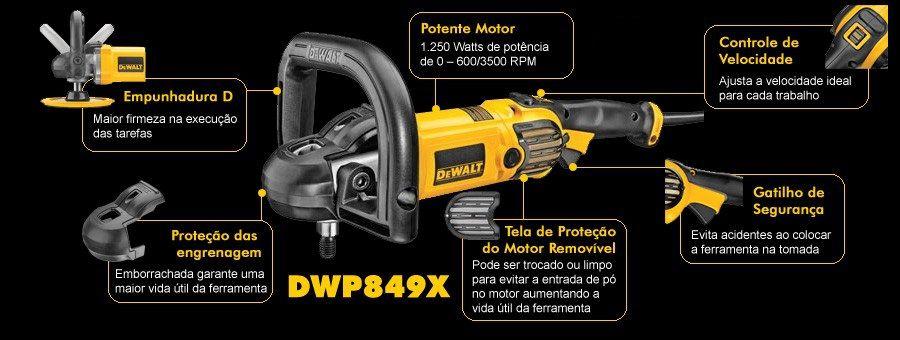 Lixadeira Politriz Angular DWP849XBR 1250W 7