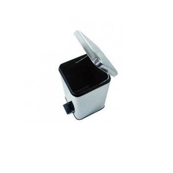 Lixeira Quadrada Inox 12 Litros Com Pedal Forusi