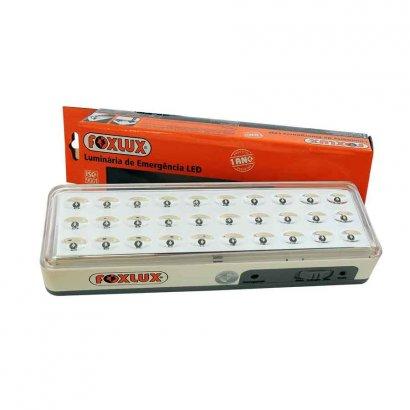 Luminária de emergência 30 leds Bivolt Foxlux