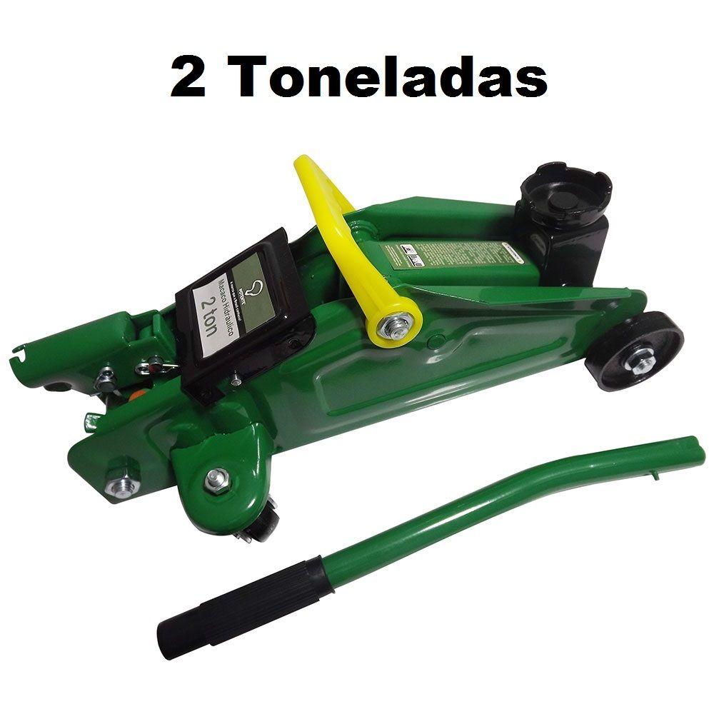 Macaco Hidráulico 2 Toneladas Tipo Jacaré Com Maleta Potente Brasil JAC02BOXPI