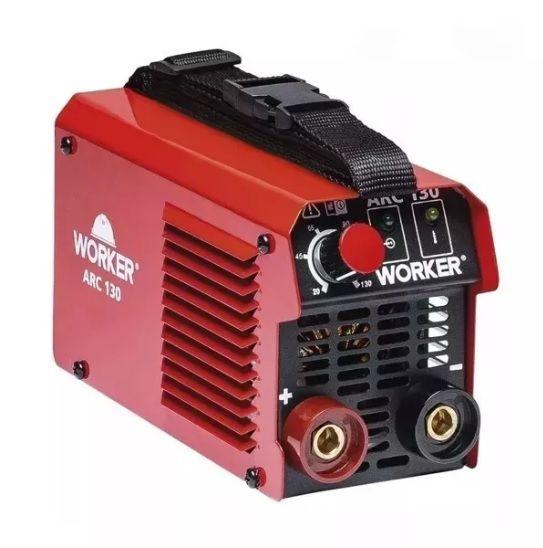 Máquina de Solda Fonte Inversora Eletrodo ARC 130A 127v Worker Nova Versão