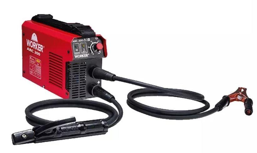 Máquina de Solda Fonte Inversora Eletrodo ARC 200A 220v Worker