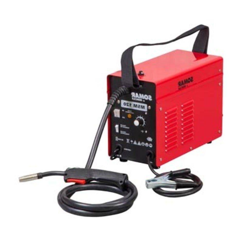 Máquina de Solda Mig Mag 120a 127v Profissional  sem Abastecimento de Gas Somar Schulz