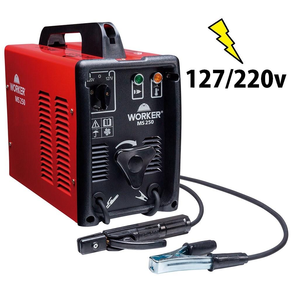 Máquina De Solda Transformadora 250A Worker 127/220v Seletor manual