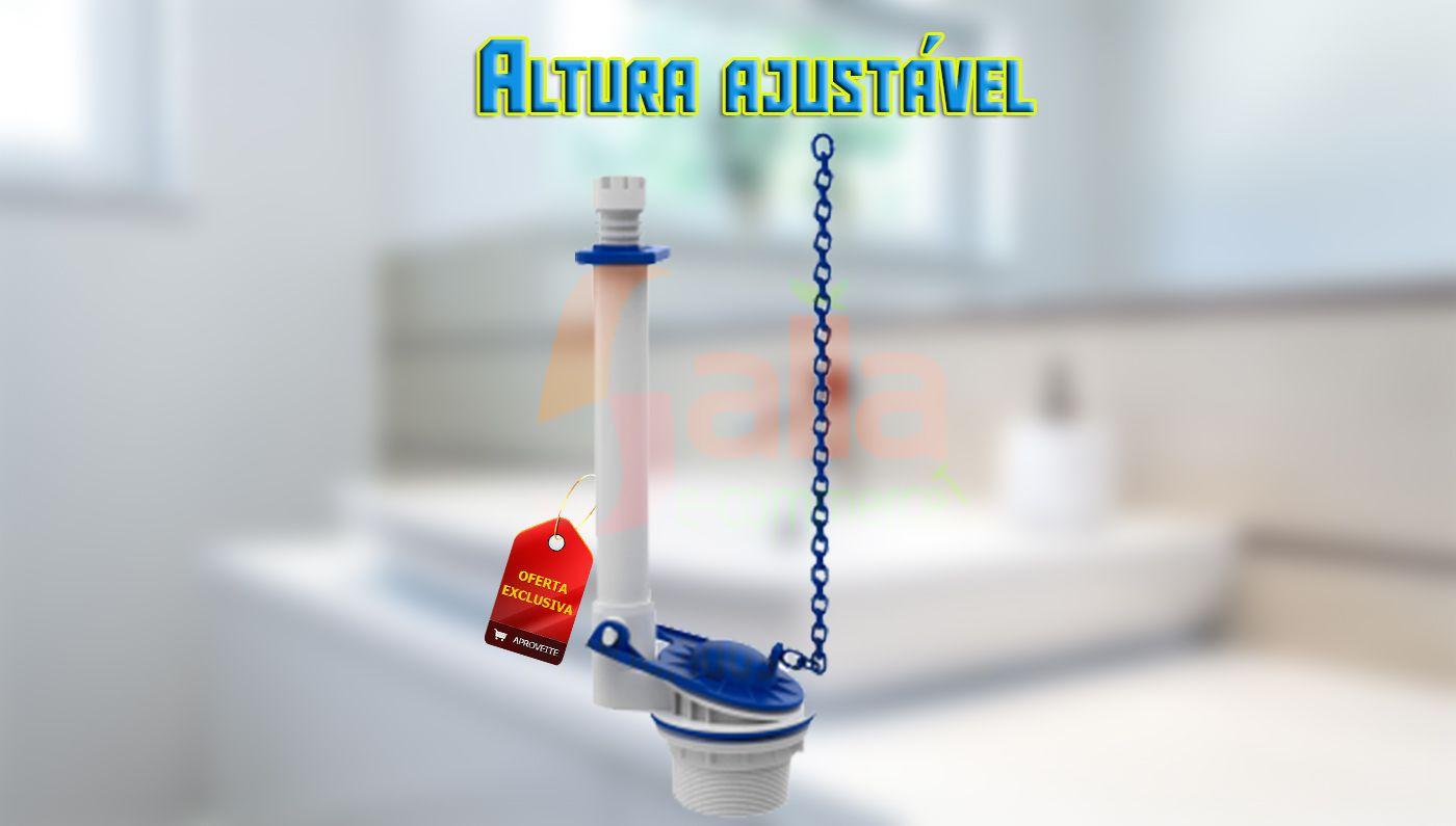 Mecanismo de Saída p/ Caixa Acoplada Universal Blukit Altura Ajustável