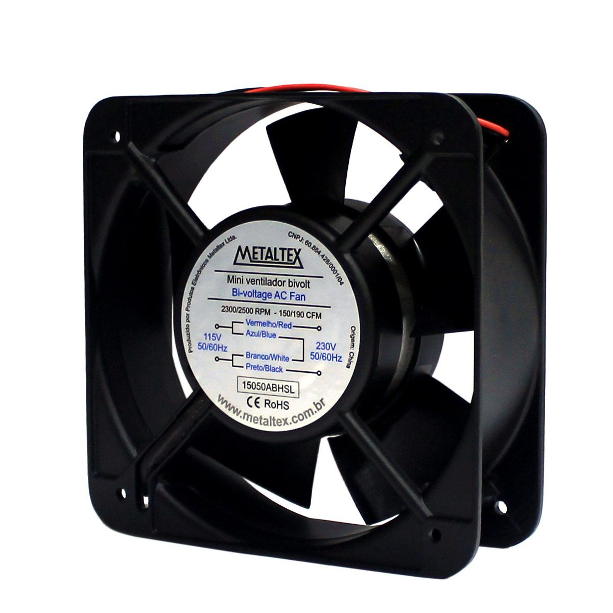Mini Ventilador 150mm 115/220V Metaltex