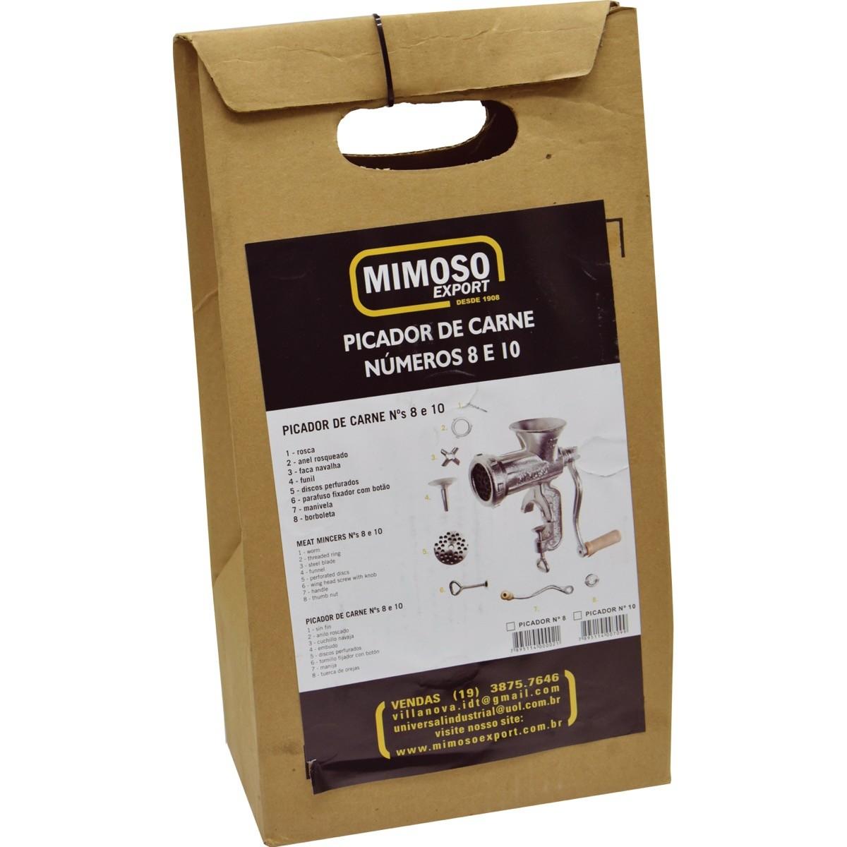 Moedor / Picador / Maquina de Moer Carne N10 Ferro Fundido Mimoso Original
