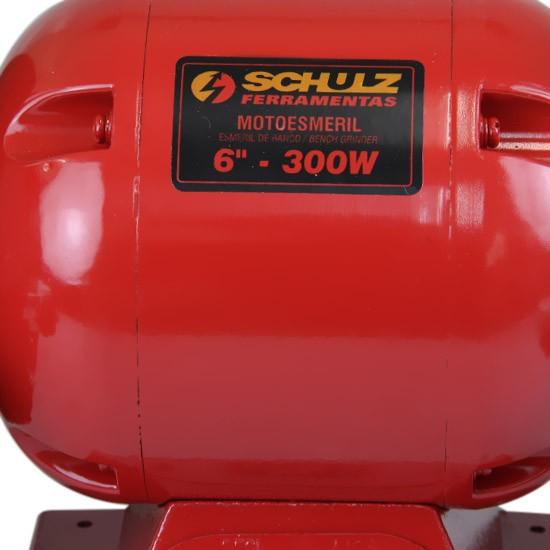 Moto Esmeril 300w Motor Silencioso Qualiforte Ms6 127v Schulz