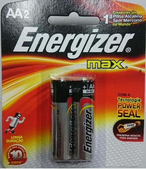 Pilha Energizer Max AA2 1,5v Alcalina