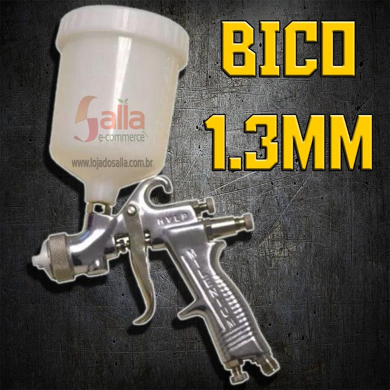 Pistola de Pintura Milenium HVLP Bico 1.3mm S/Regulador Arprex