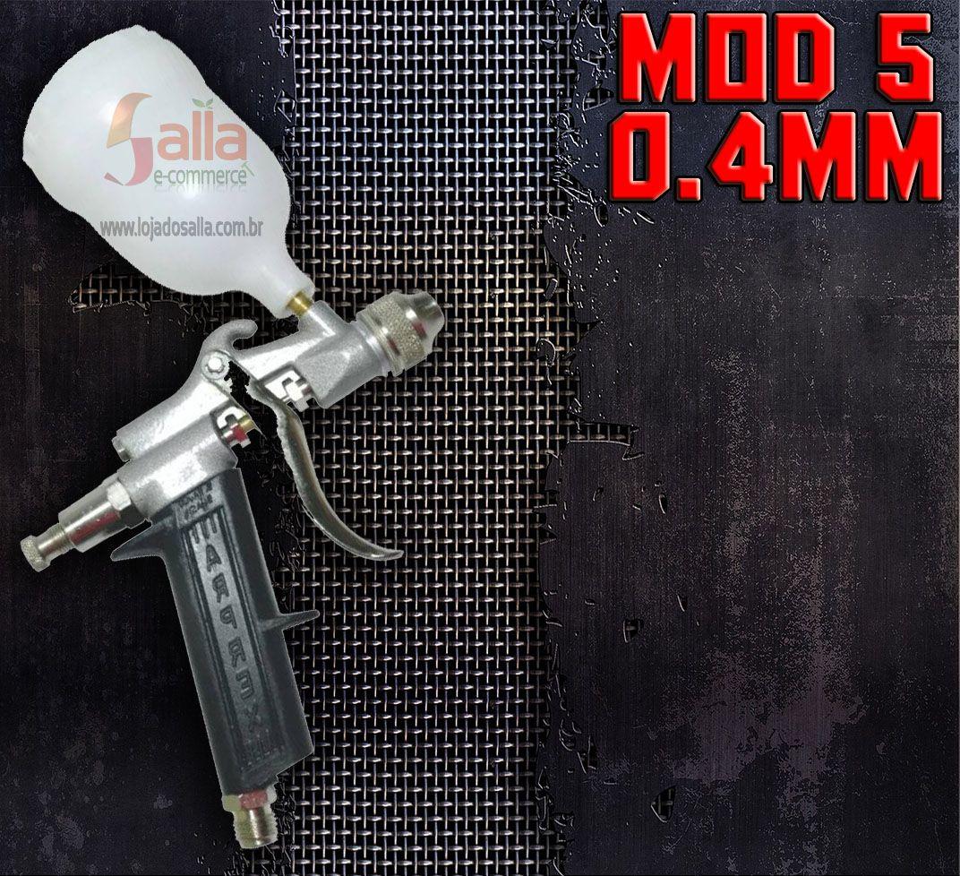 Pistola de Pintura Mod. 5 Plus 0,4mm com Caneca Plástica Arprex