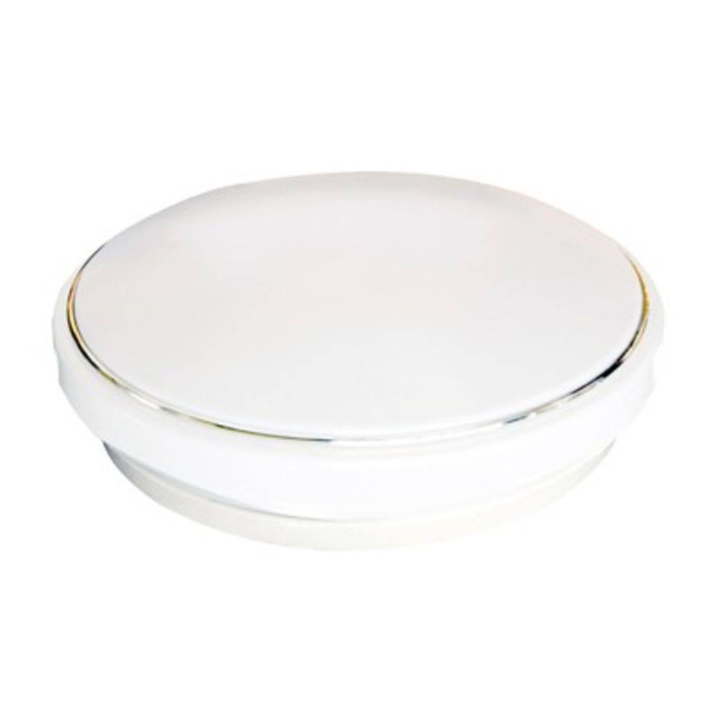 Plafon Teto Led Redondo Branco 25w Sobrebor Foxlux 1 Ano de Garantia