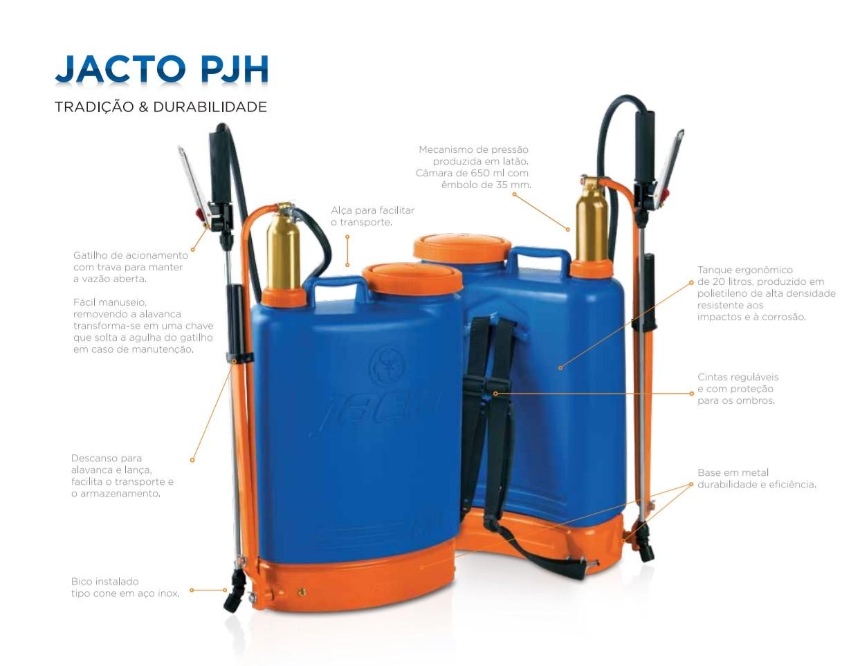 Pulverizador Costal Manual 20 Litros Jacto - PJH