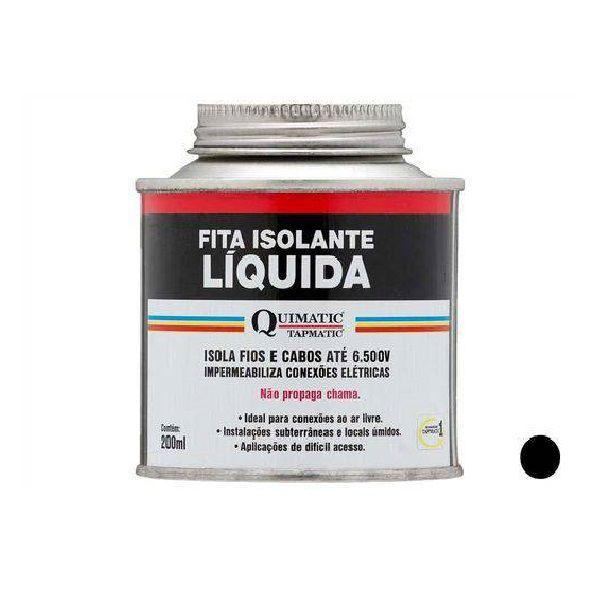 Quimatic BD1 Fita Isolante Líquida 200ml Preta