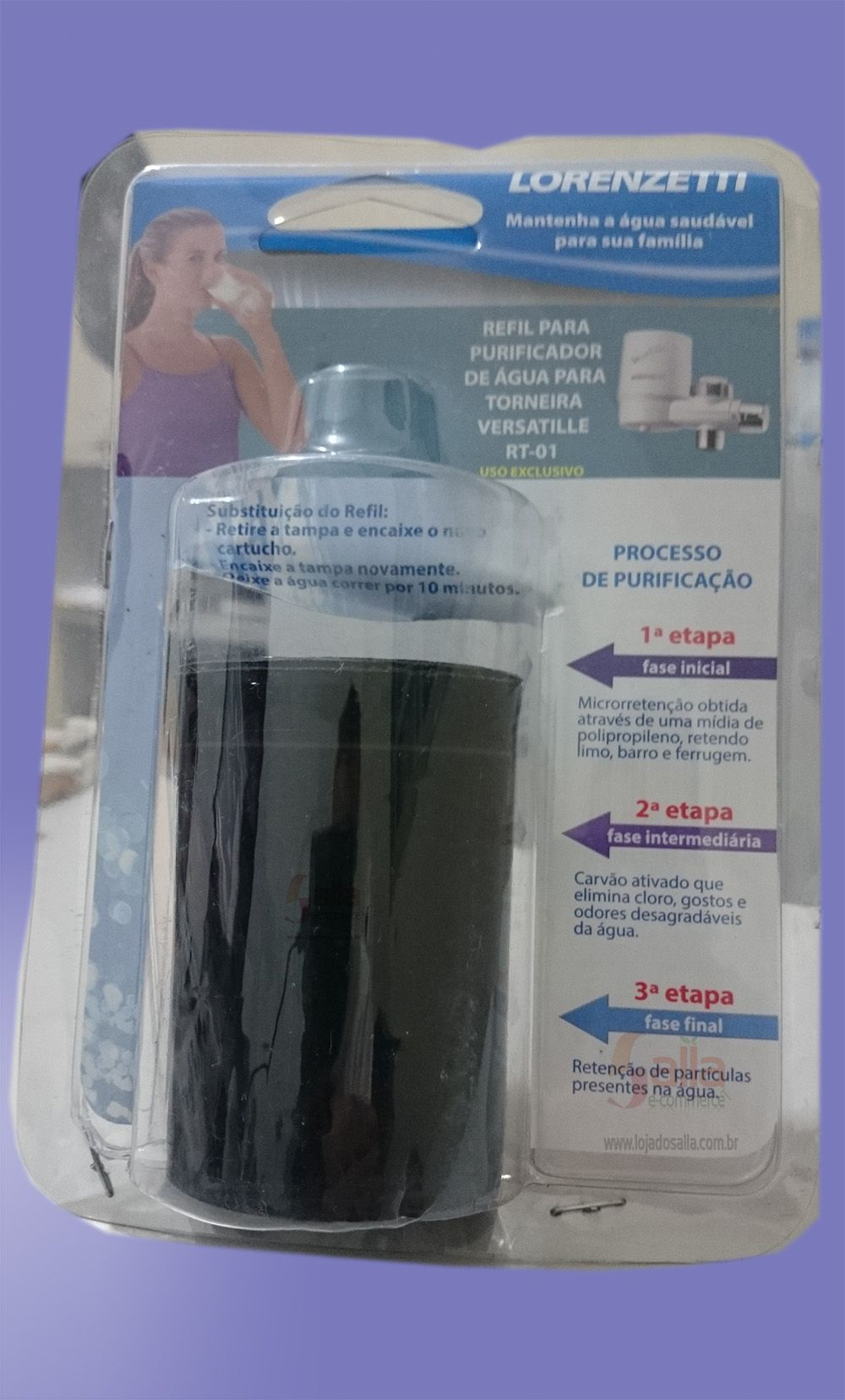 Refil / Filtro para Purificador de Água Torneira Versatille RT-01 Lorenzetti