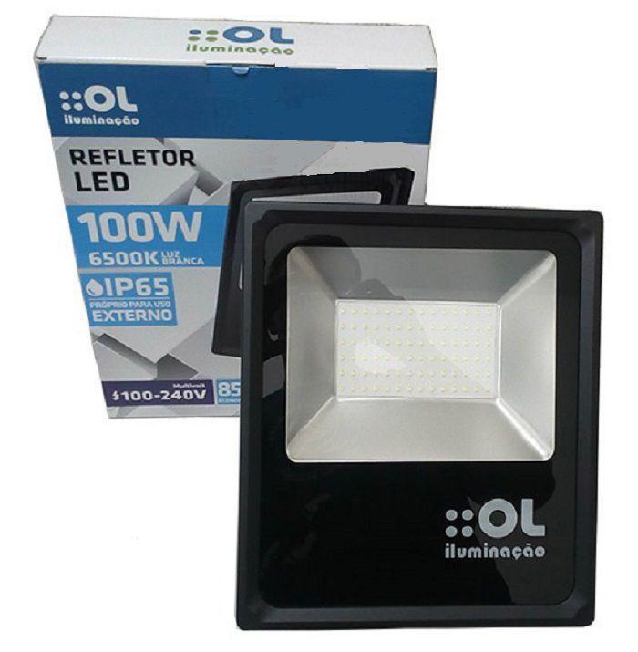 Refletor Led Econômico 100W Luz Branca OL