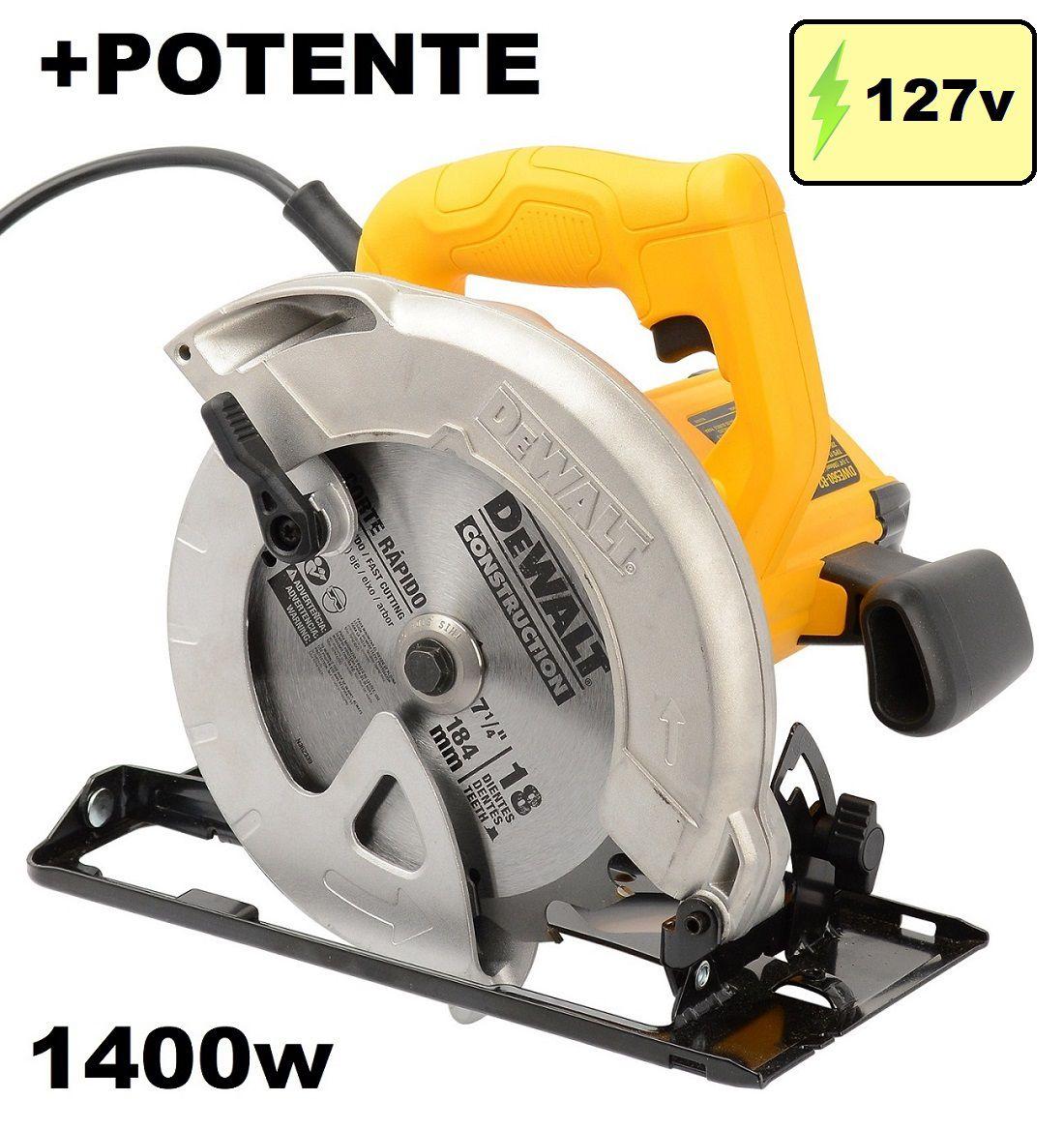 Serra Circular Elétrica 7 1/4'' 1400w 127v DWE560BR Dewalt