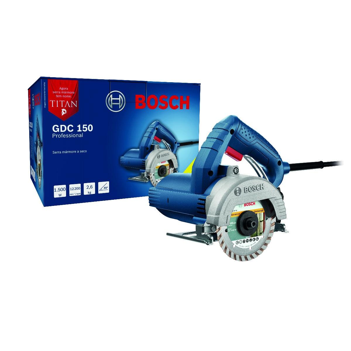 Serra Mármore Bosch Titan 1500W Disco 125mm Professional GDC 150 - 127V