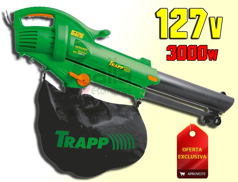 Soprador e Aspirador Elétrico de Folhas Jardim 127v 3000w SF3000 Trapp
