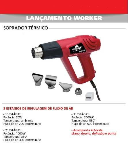 Soprador Térmico 2000w Worker 127v STW1500