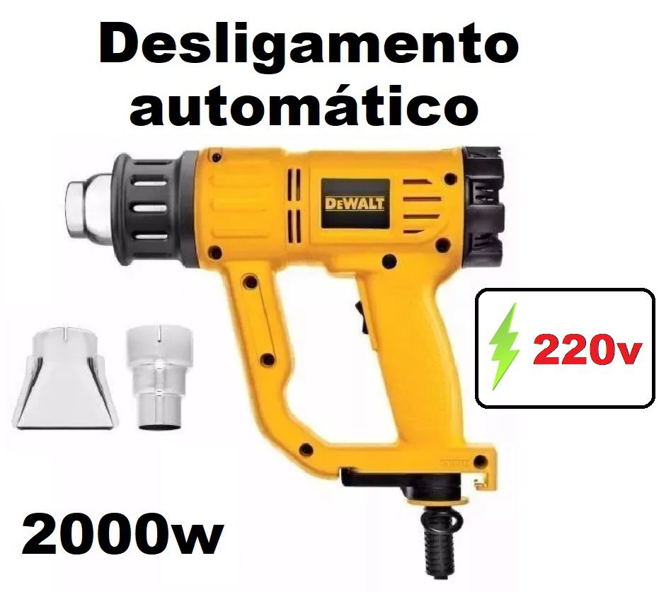 Soprador Térmico / Pistola de Calor Profissional 220v D26411-b2 2000w Dewalt