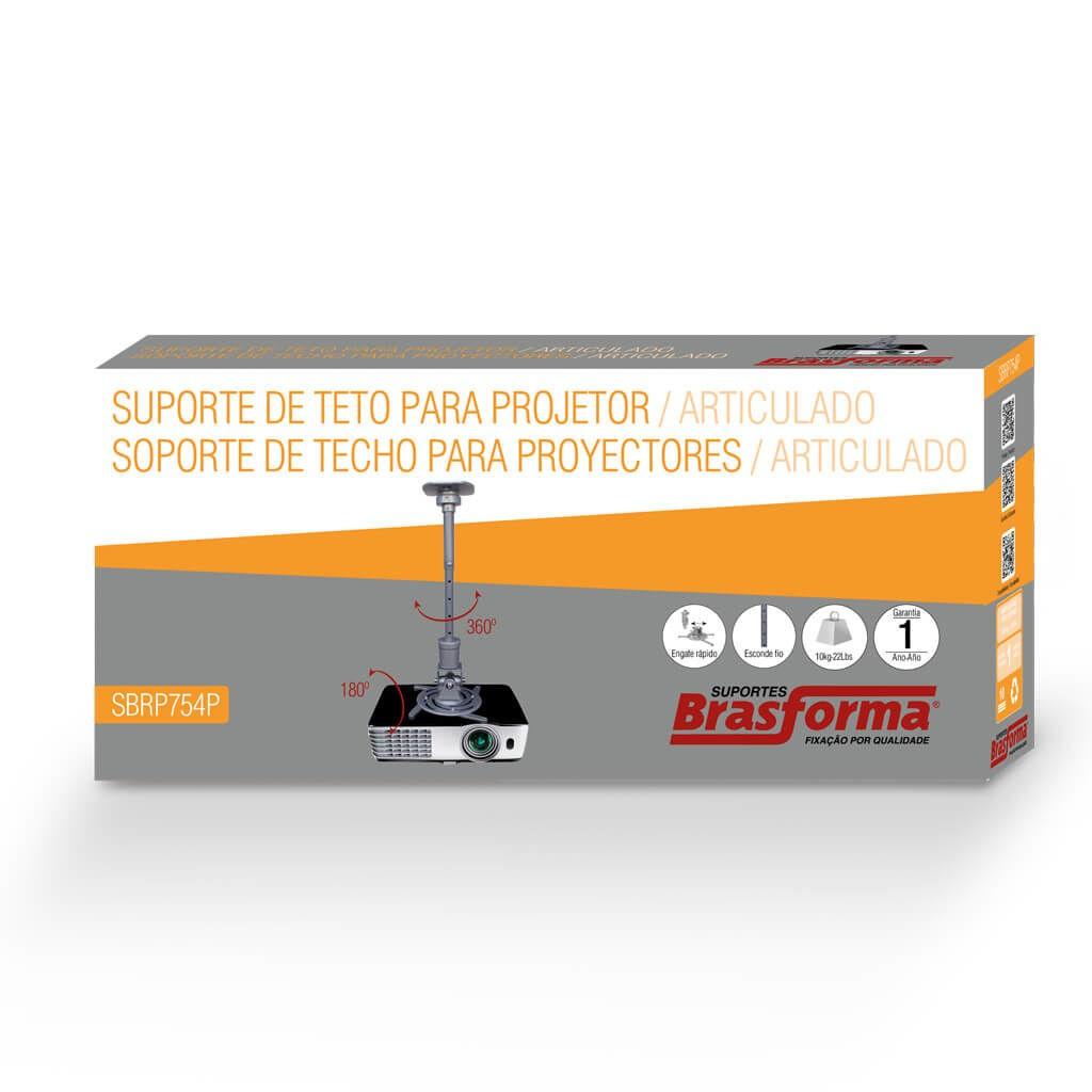 Suporte de Teto/Parede para Projetor SBRP754P Prata Brasforma
