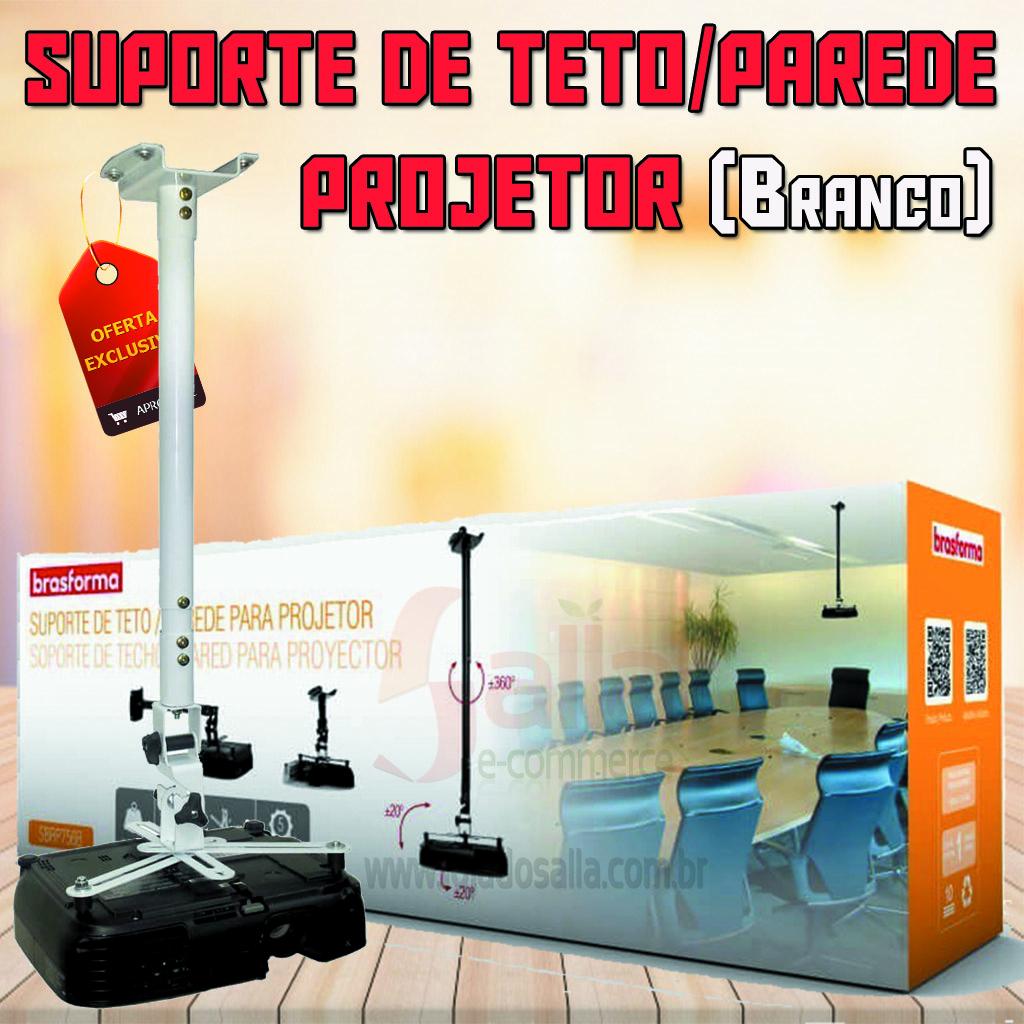 Suporte de Teto / Parede para Projetor Branco SBRP756B Brasforma