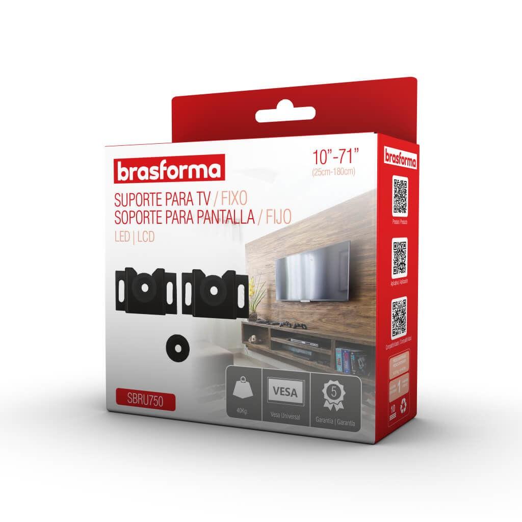 Suporte Fixo Universal p/ TV  LED/LCD 10 a 71 pol SBRU750 Brasforma