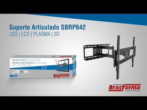 Suporte Tv Lcd Plasma Led 37 a 70 pol Articulado SBRP642 Brasforma