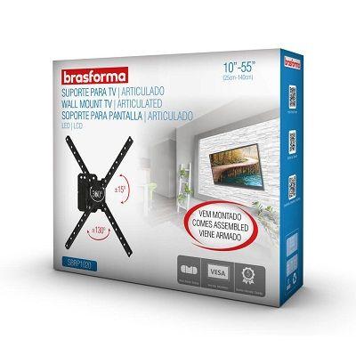 Suporte TV LED 10 a 55 SBRP1020 Articulado BrasForma