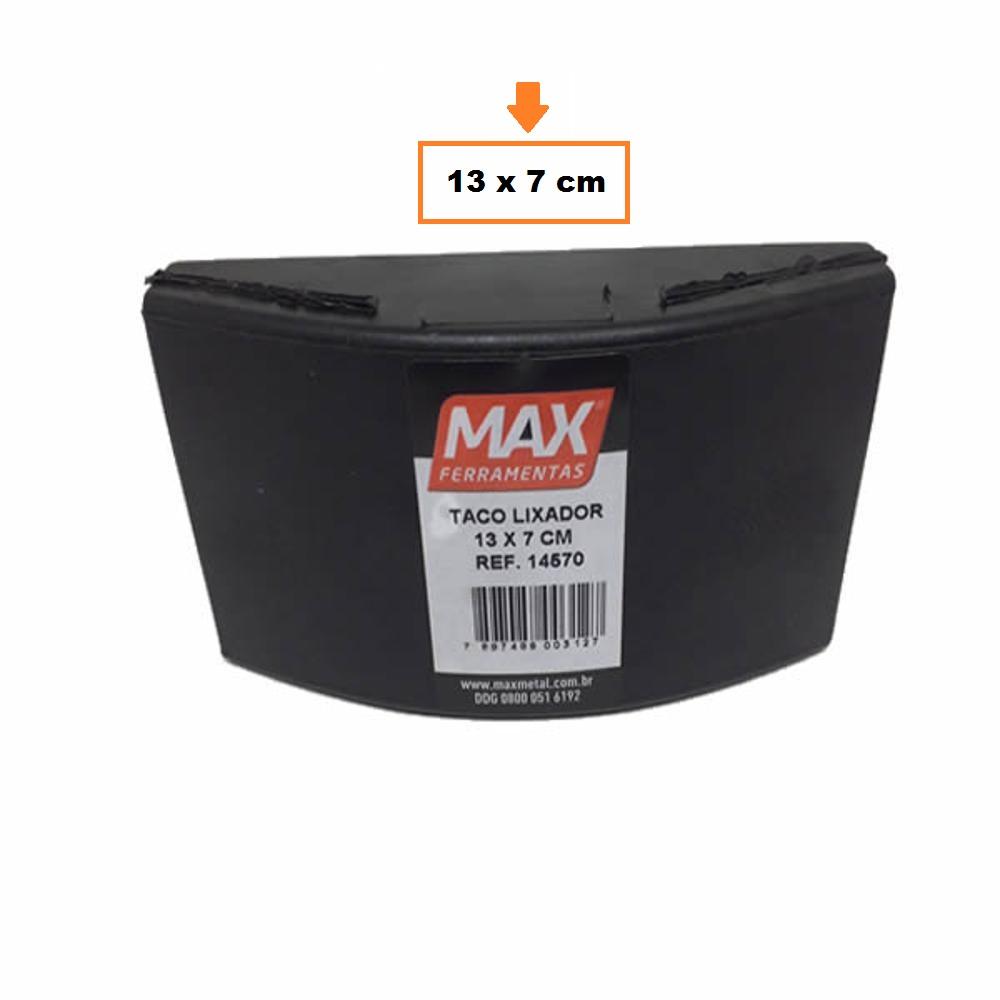 Taco Lixador Borracha 130 x 70mm 14570 Max