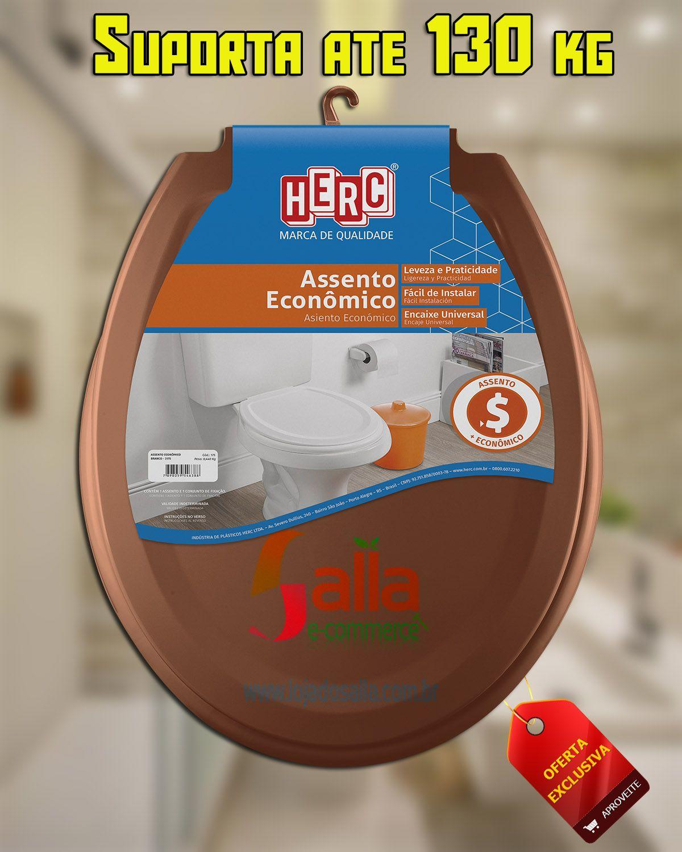 Tampa de Vaso / Assento Sanitário Ocre Prático Econômico 3180 Herc
