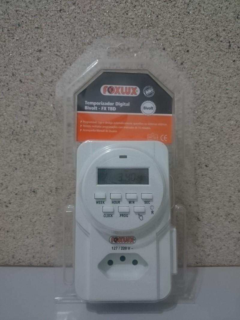 Temporizador Digital Bivolt - FX TBD Foxlux