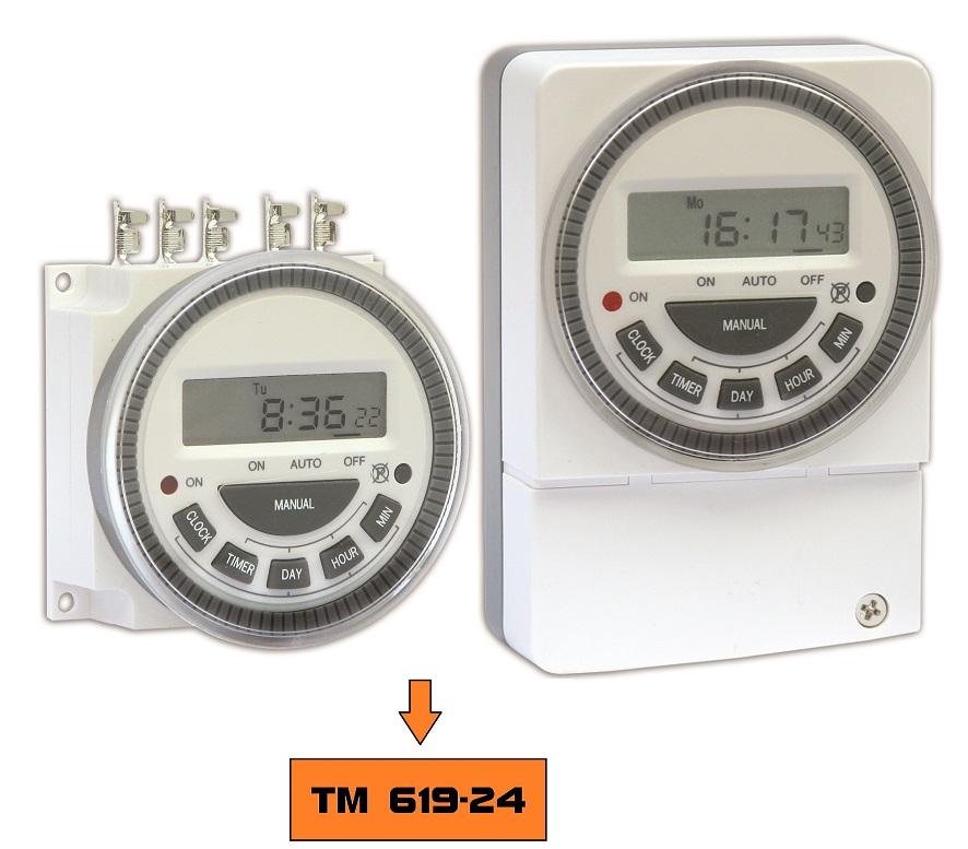 Timer Interruptor Temporizador Semanal Horário 24Vdc Tm 619-24 Novus
