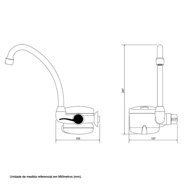 Torneira Elétrica Loren Easy Branca Lorenzetti 220v 5500w