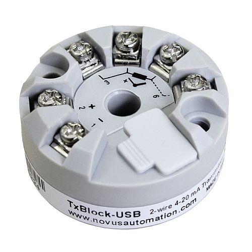 Transmissor de Temperatura TxBlock-USB 4-20MA Novus