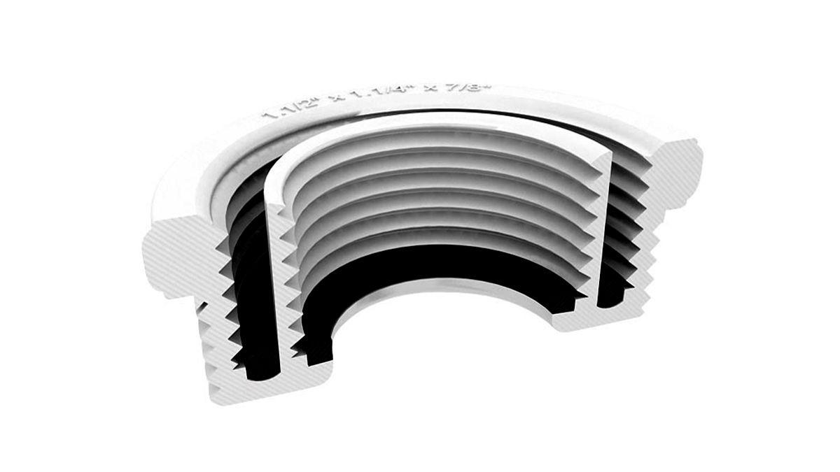 Tubo de Ligação Flexível Extensível Branco com Suporte Censi