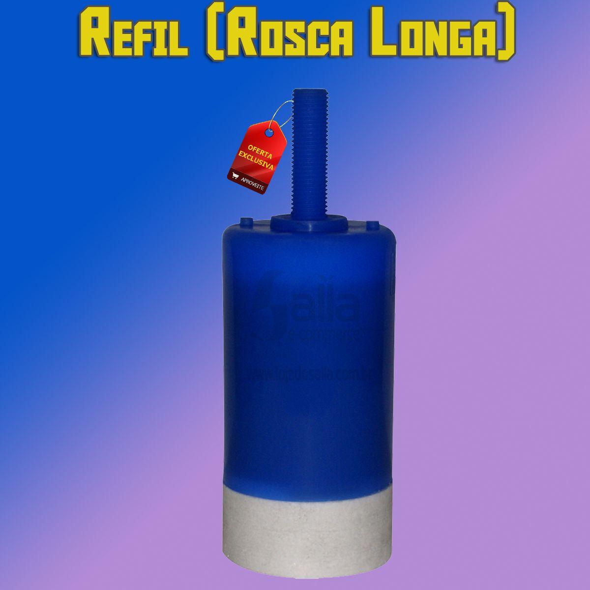 Vela Carvão Ativado Refil Filtro p/ Torneira Hidrofiltros HF40 Rosca Longa