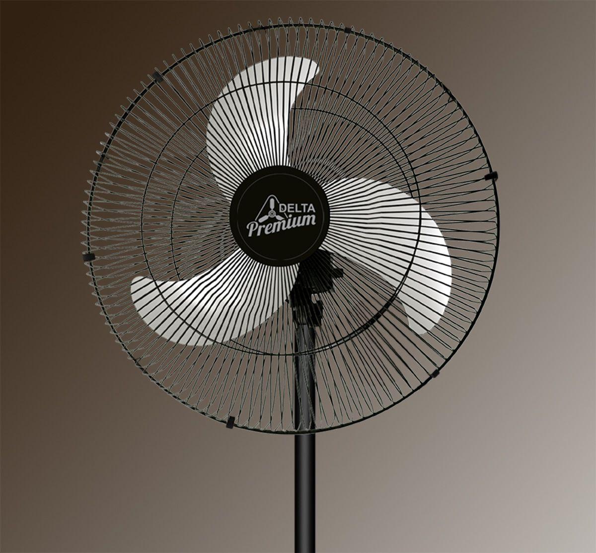 Ventilador de Coluna 60 Cm Preto Bivolt Venti Delta Premium 146 Fios 170w