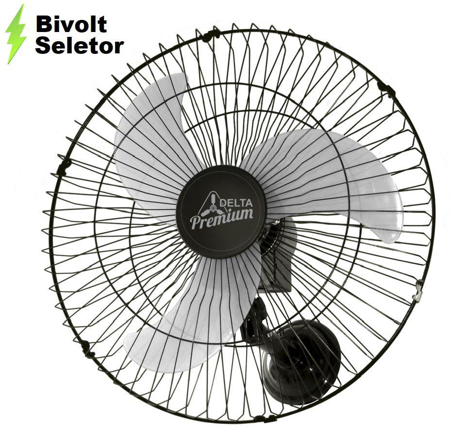 Ventilador de Parede Oscilante Venti-Delta 60 Cm Bivolt Grade em Aço