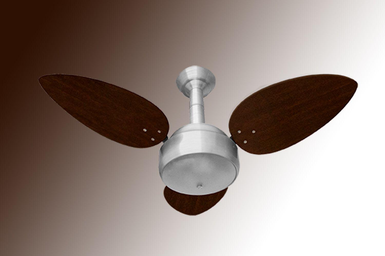 Ventilador de Teto Luxo Miray Exuberance Motor Prata e Pás Tabaco 127v Venti Delta